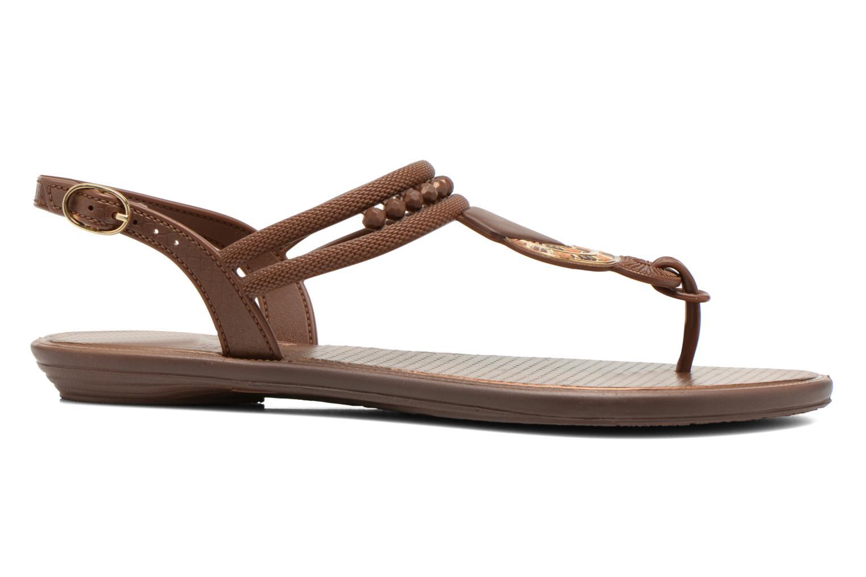 Sandales et nu-pieds Grendha Tribal Sandal Fem Marron vue derrière