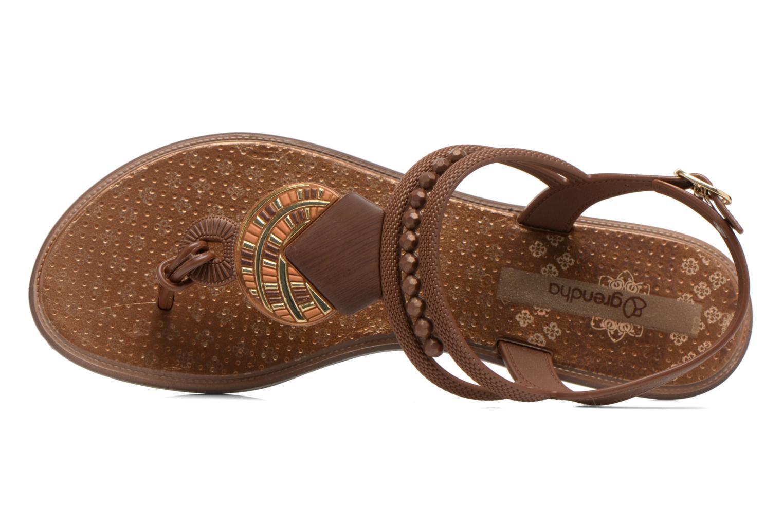 Sandales et nu-pieds Grendha Tribal Sandal Fem Marron vue gauche