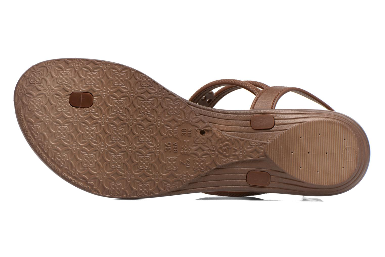 Sandales et nu-pieds Grendha Tribal Sandal Fem Marron vue haut