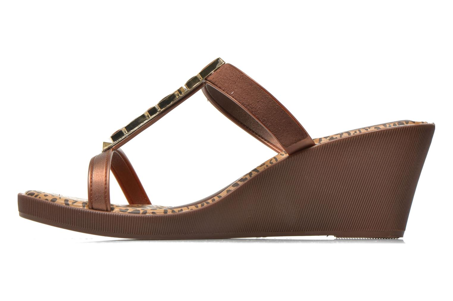 Mules & clogs Grendha Jewel Plat Brown front view