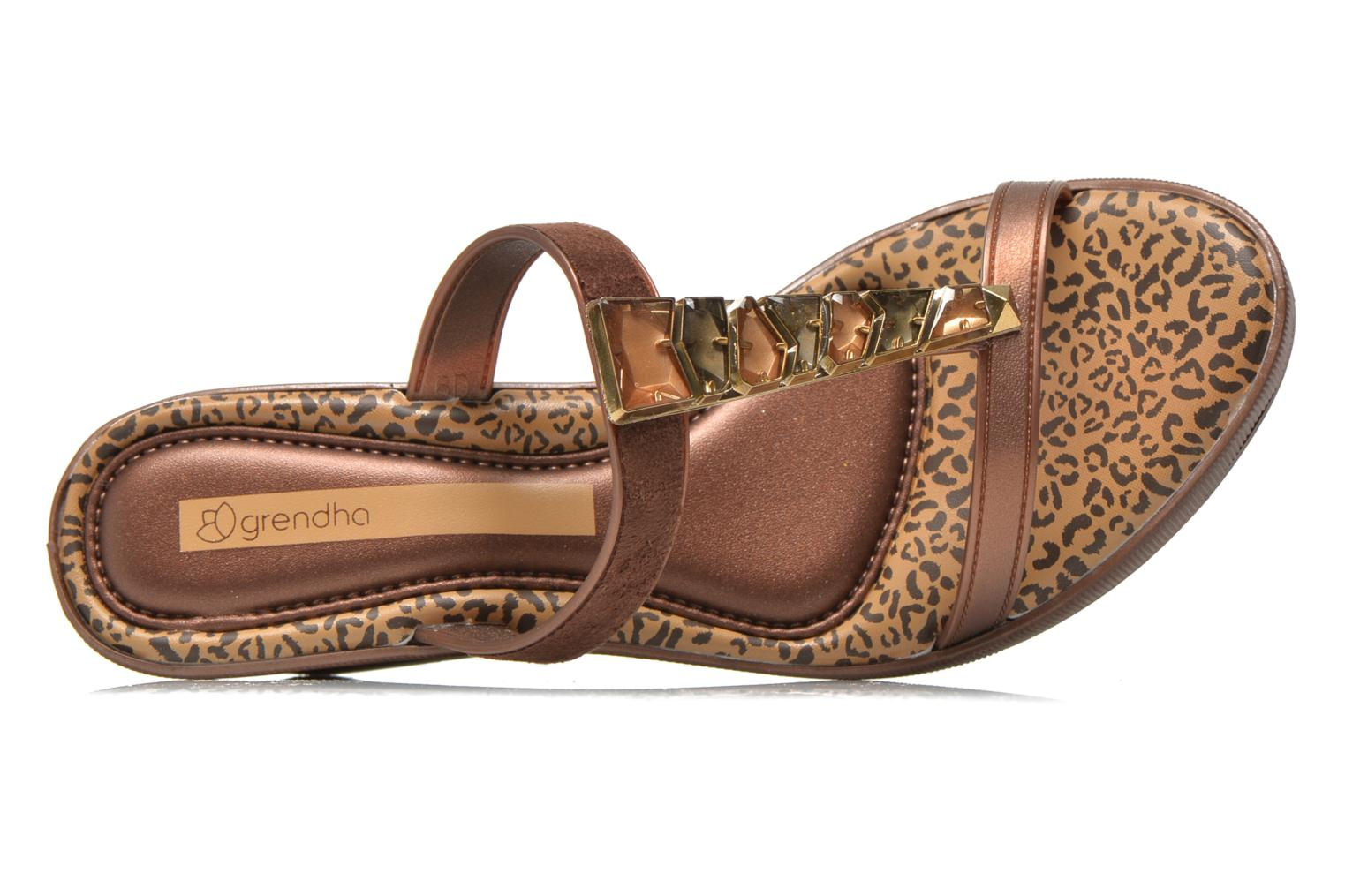 Mules & clogs Grendha Jewel Plat Brown view from the left