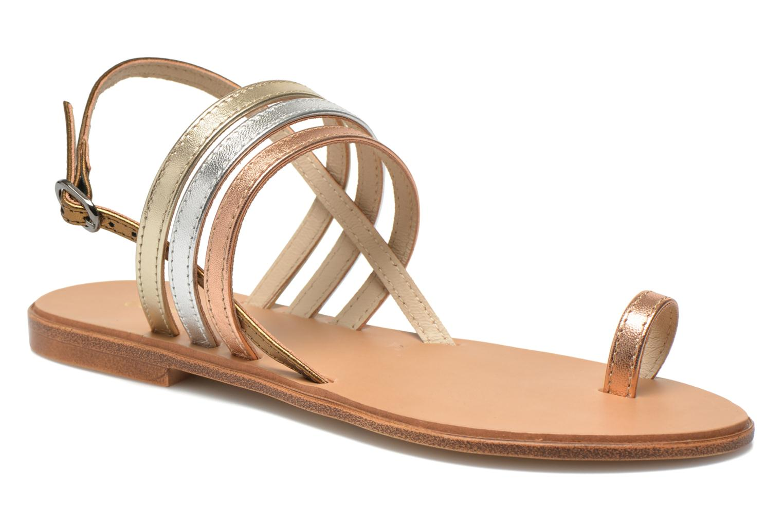 Sandalias Georgia Rose Camio Oro y bronce vista de detalle / par