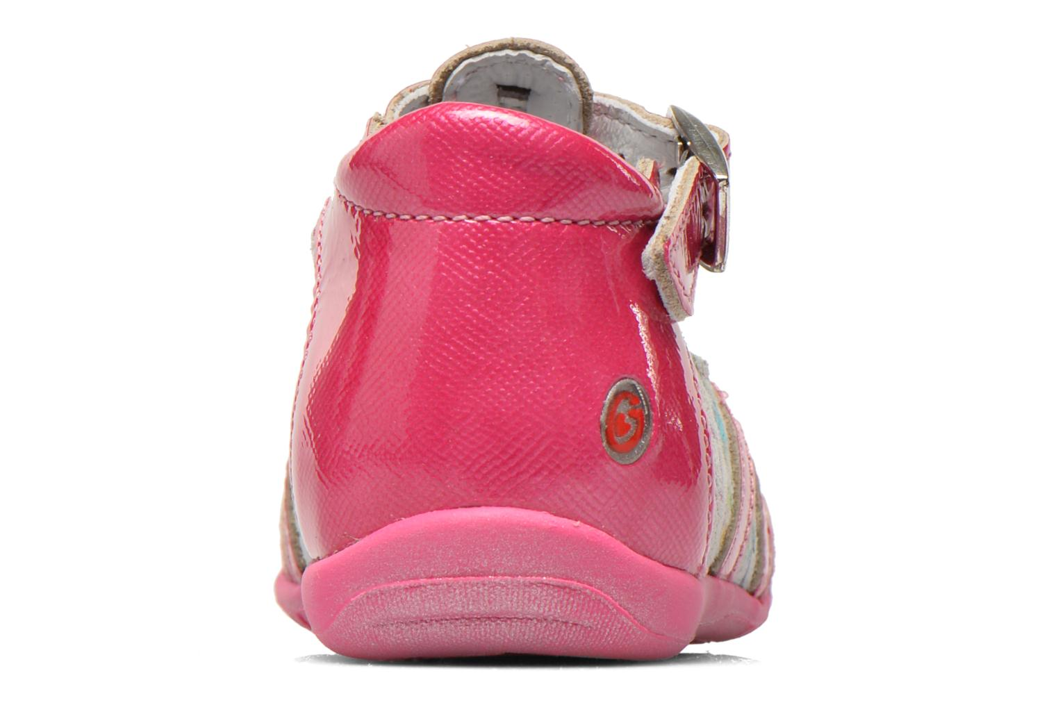 Ankle boots GBB Milla Pink view from the right