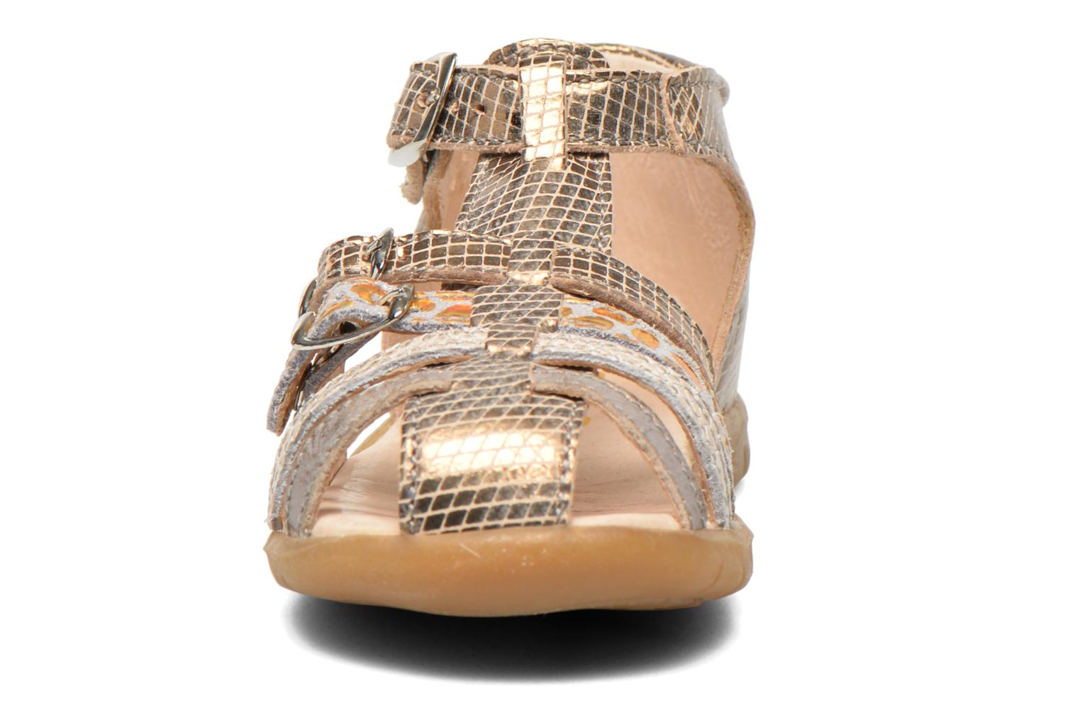 Sandals GBB Mina Bronze and Gold model view
