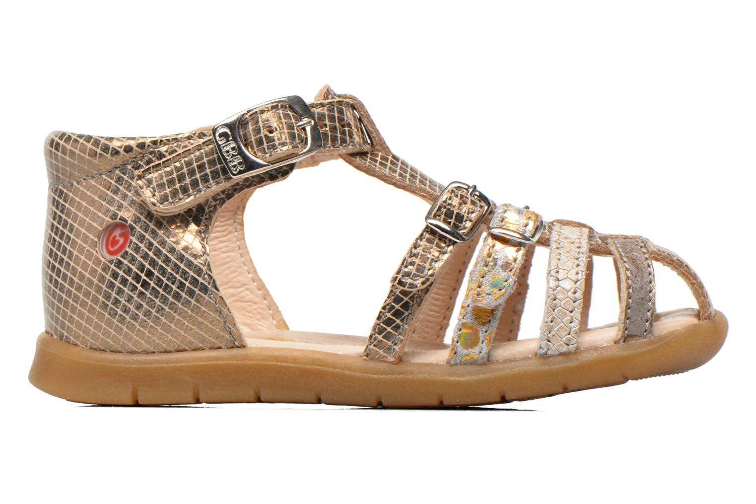 Sandals GBB Mina Bronze and Gold back view