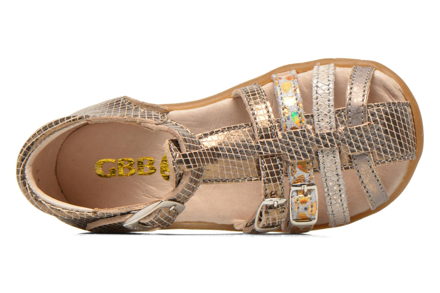 Sandals GBB Mina Bronze and Gold view from the left