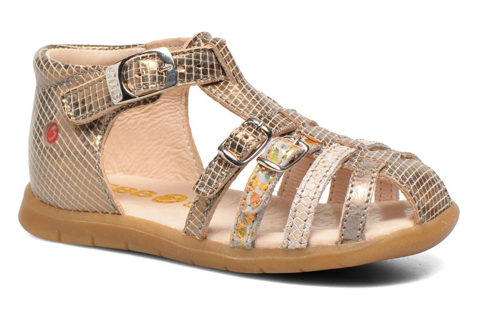 Sandals GBB Mina Bronze and Gold detailed view/ Pair view