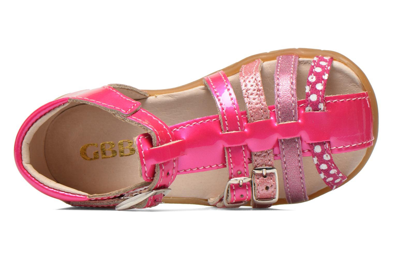 Sandales et nu-pieds GBB Mina Rose vue gauche