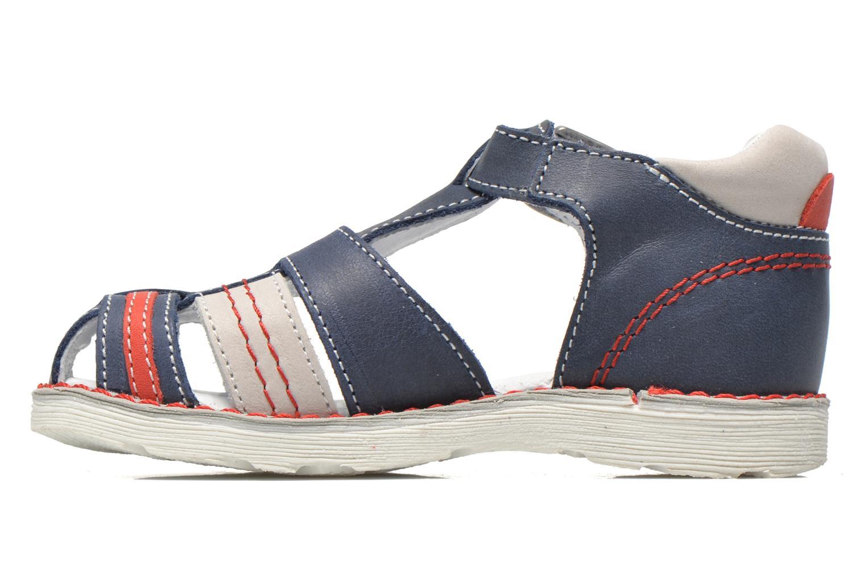 Sandales et nu-pieds GBB Max Bleu vue face