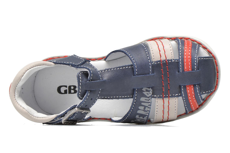 Sandalias GBB Max Azul vista lateral izquierda