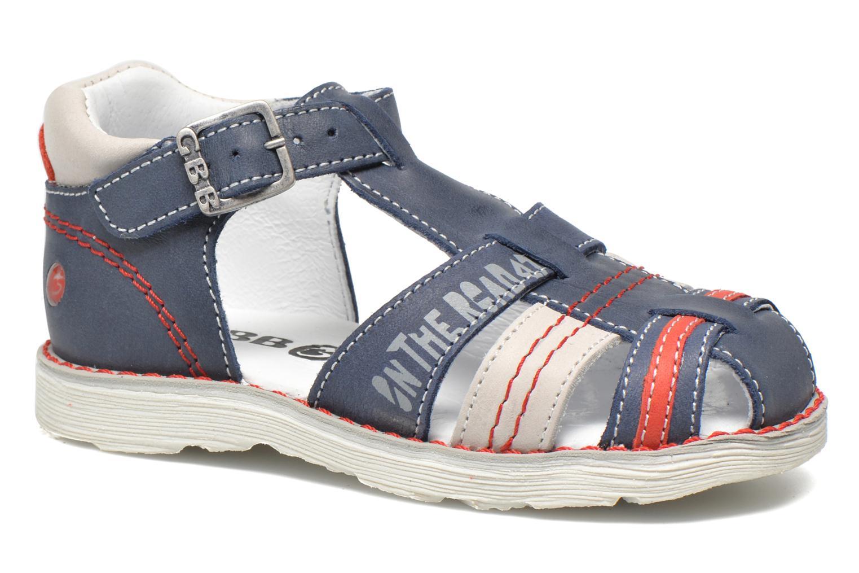 Sandales et nu-pieds GBB Max Bleu vue détail/paire