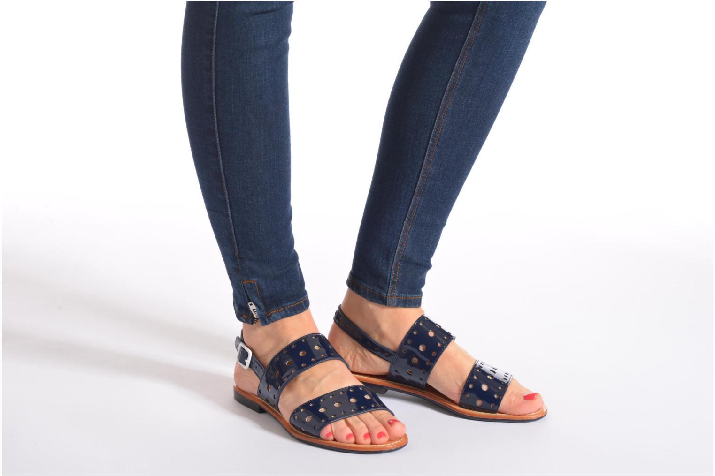 Sandales et nu-pieds Mellow Yellow Vadina Bleu vue bas / vue portée sac
