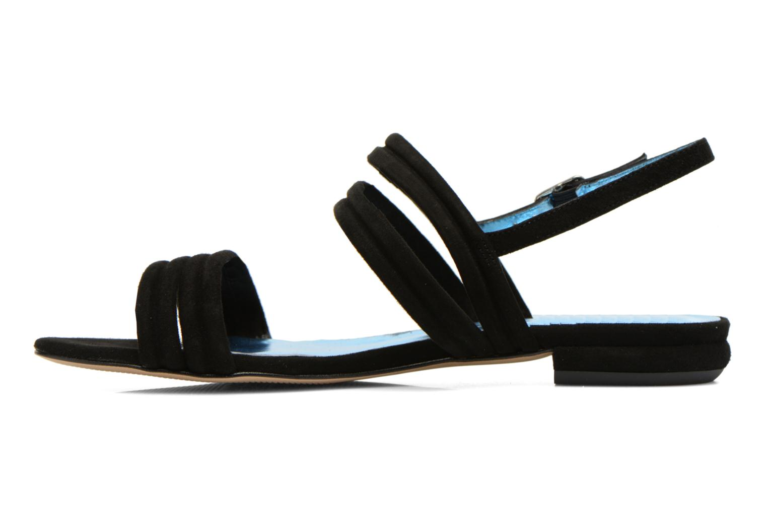 Sandals Mellow Yellow Veo Black front view
