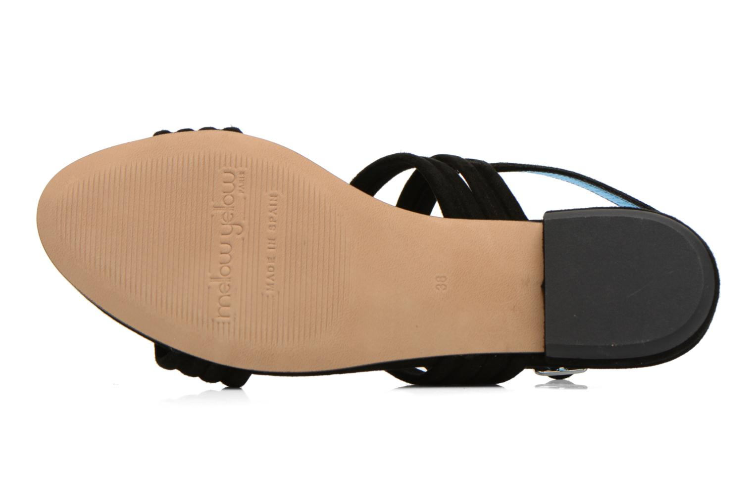 Sandals Mellow Yellow Veo Black view from above