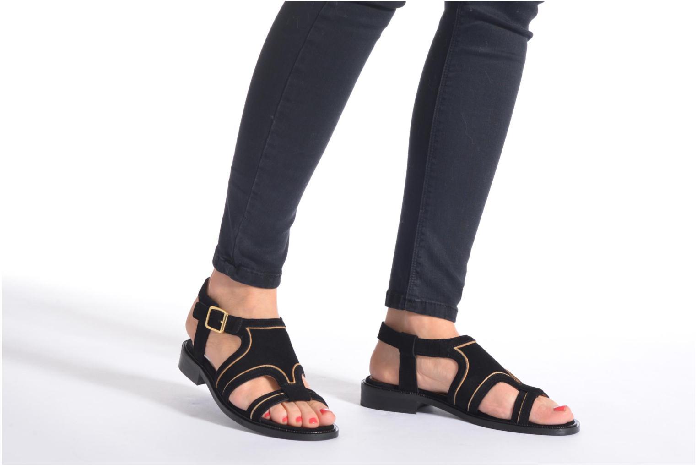Sandales et nu-pieds Mellow Yellow Vilma Beige vue bas / vue portée sac