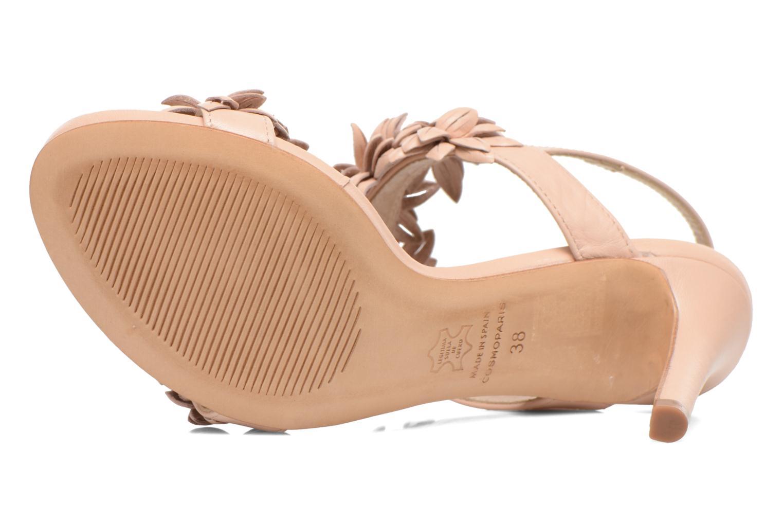 Sandales et nu-pieds COSMOPARIS Malali Beige vue haut