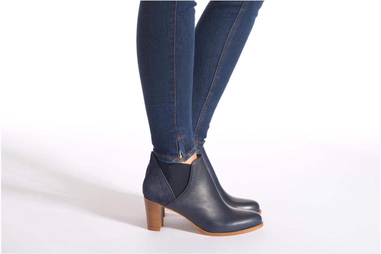 Bottines et boots COSMOPARIS Bamia/bi Bleu vue bas / vue portée sac