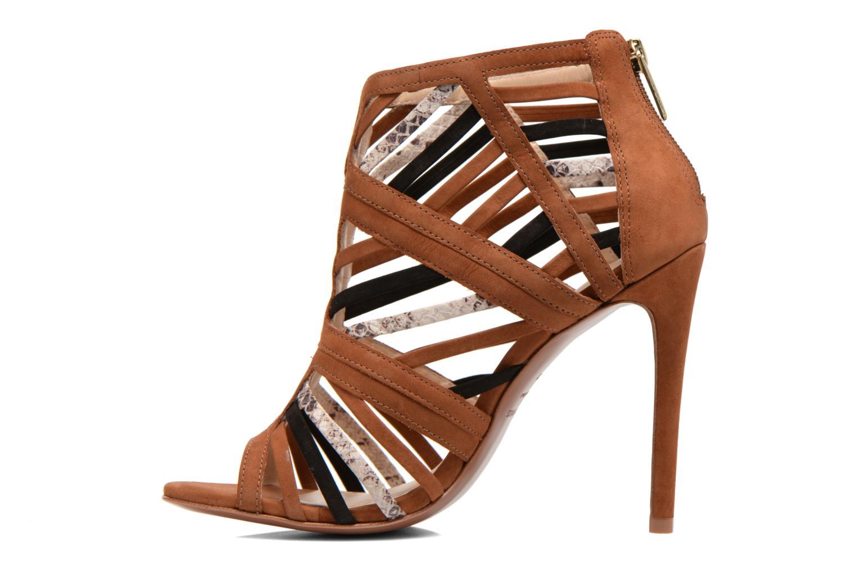 Sandals COSMOPARIS Carie/bi Brown front view