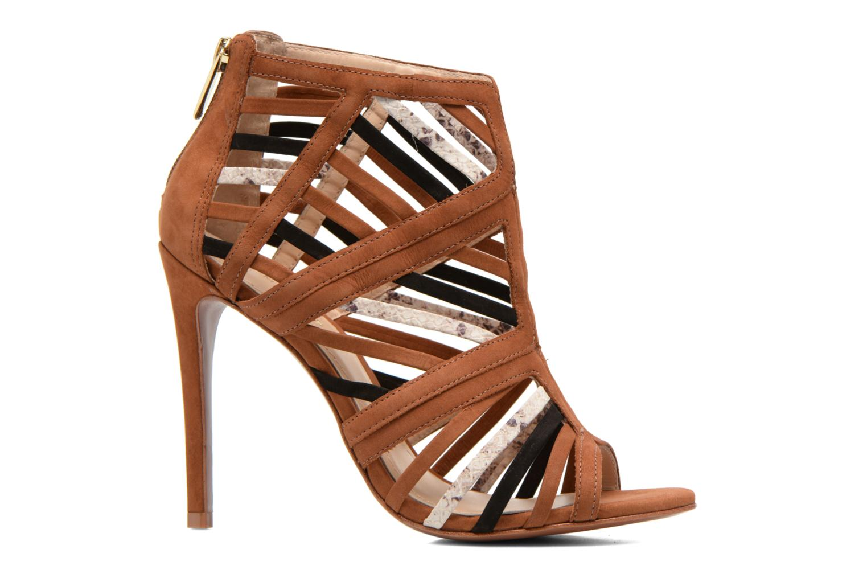 Sandals COSMOPARIS Carie/bi Brown back view