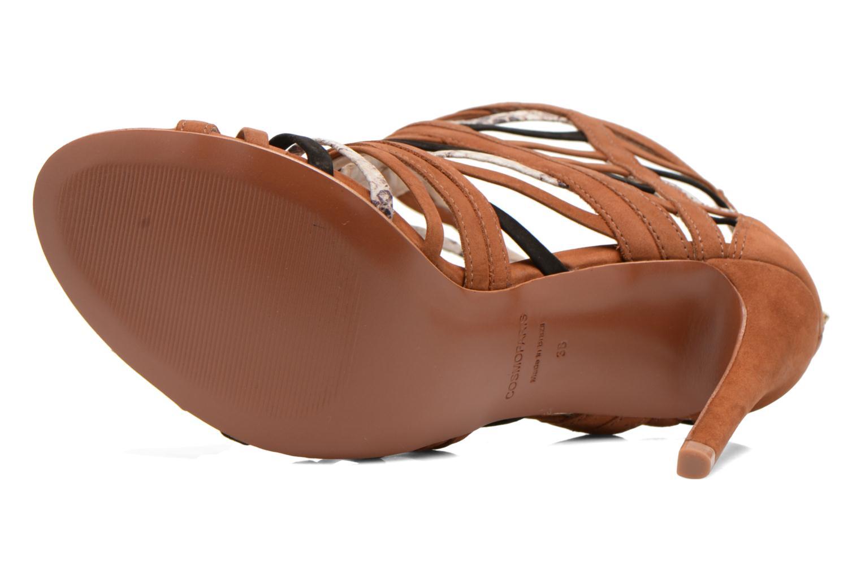 Sandales et nu-pieds COSMOPARIS Carie/bi Marron vue haut