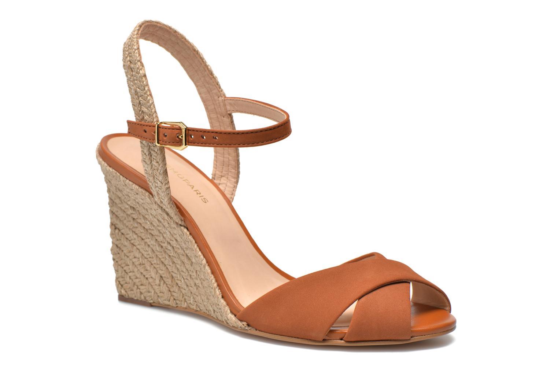 Sandales et nu-pieds COSMOPARIS Jobi/nub Marron vue détail/paire