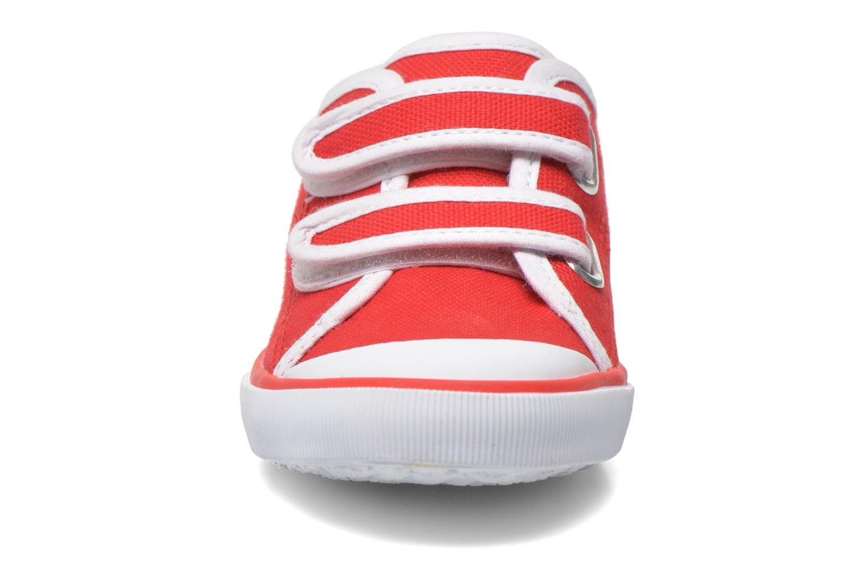 Sneaker Aigle Borizo Scratch Kid rot schuhe getragen
