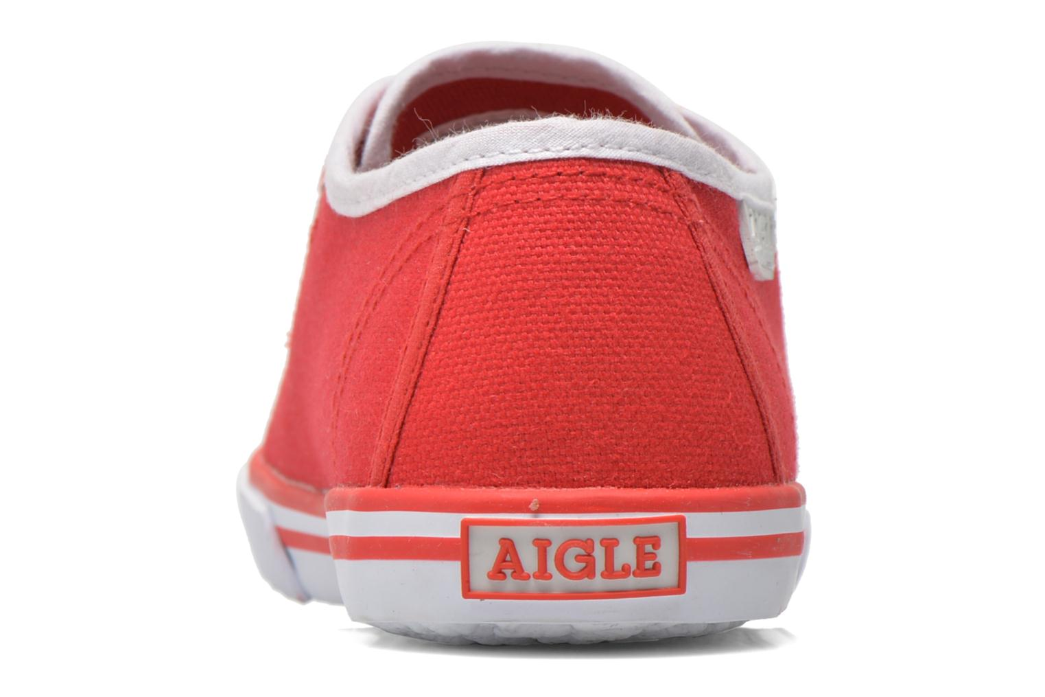 Trainers Aigle Borizo Scratch Kid Red view from the right
