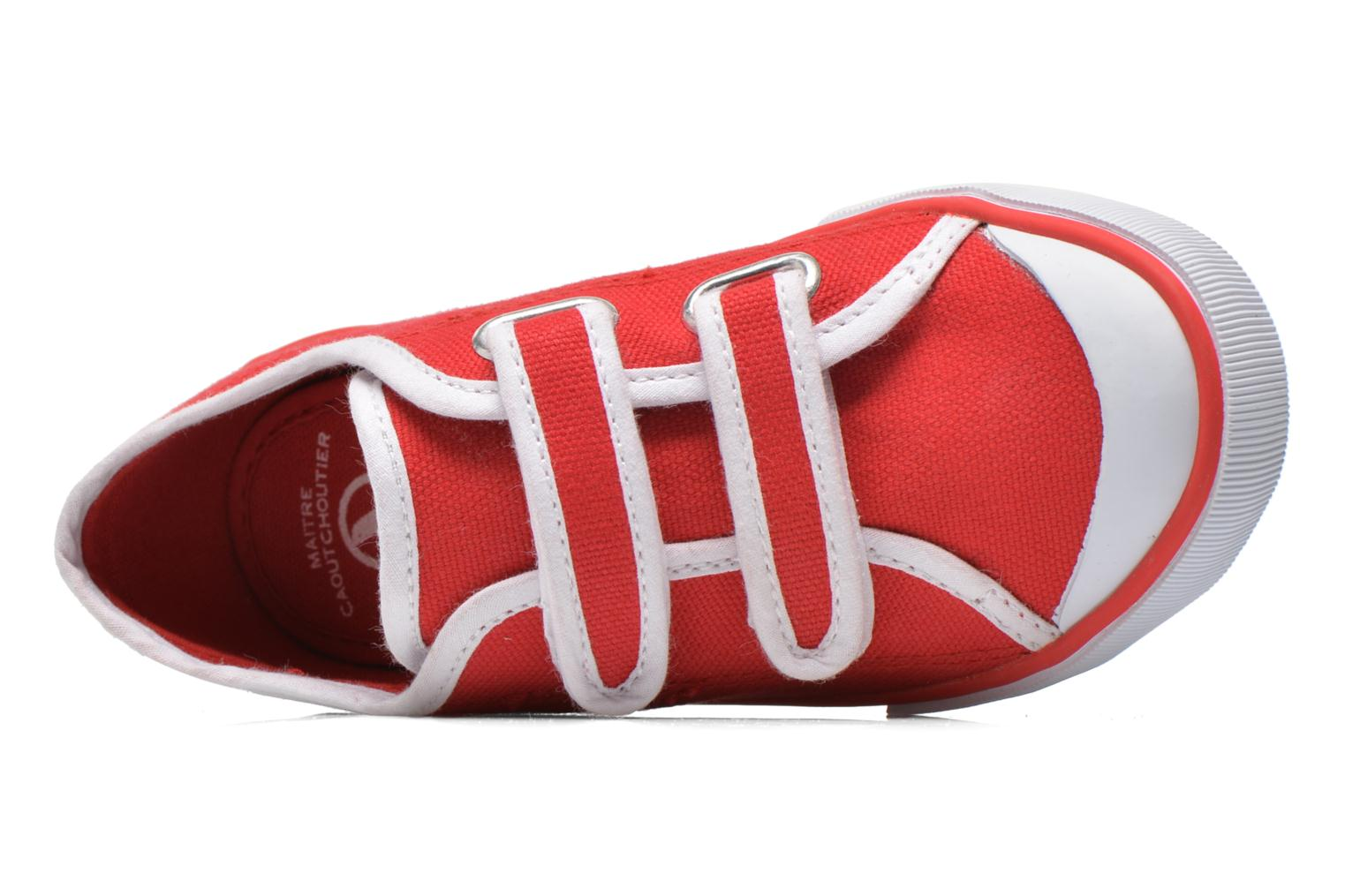 Trainers Aigle Borizo Scratch Kid Red view from the left