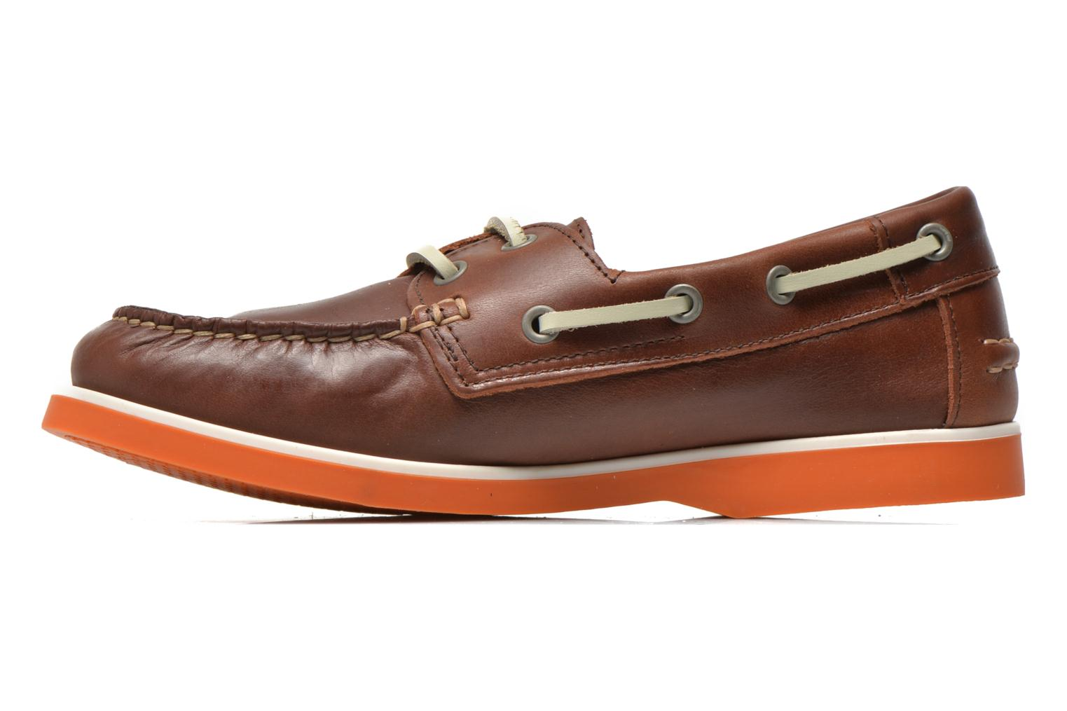 Lace-up shoes Aigle America Kid Brown front view