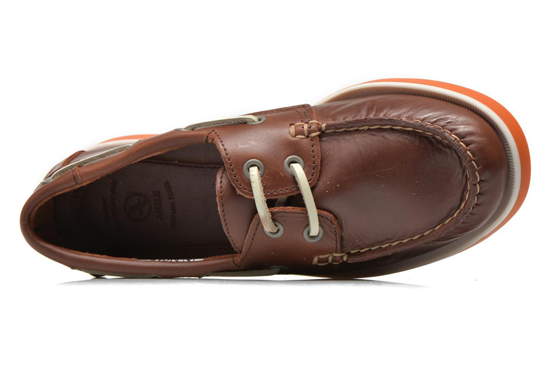 Zapatos con cordones Aigle America Kid Marrón vista lateral izquierda