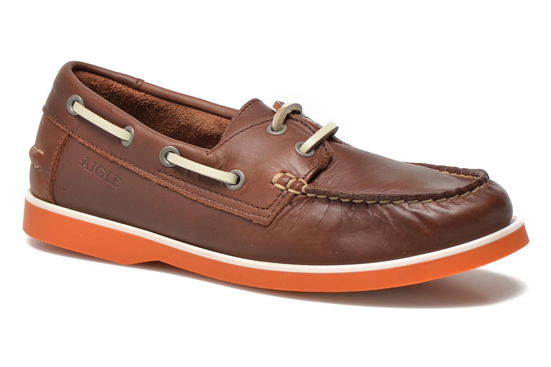Zapatos con cordones Aigle America Kid Marrón vista de detalle / par