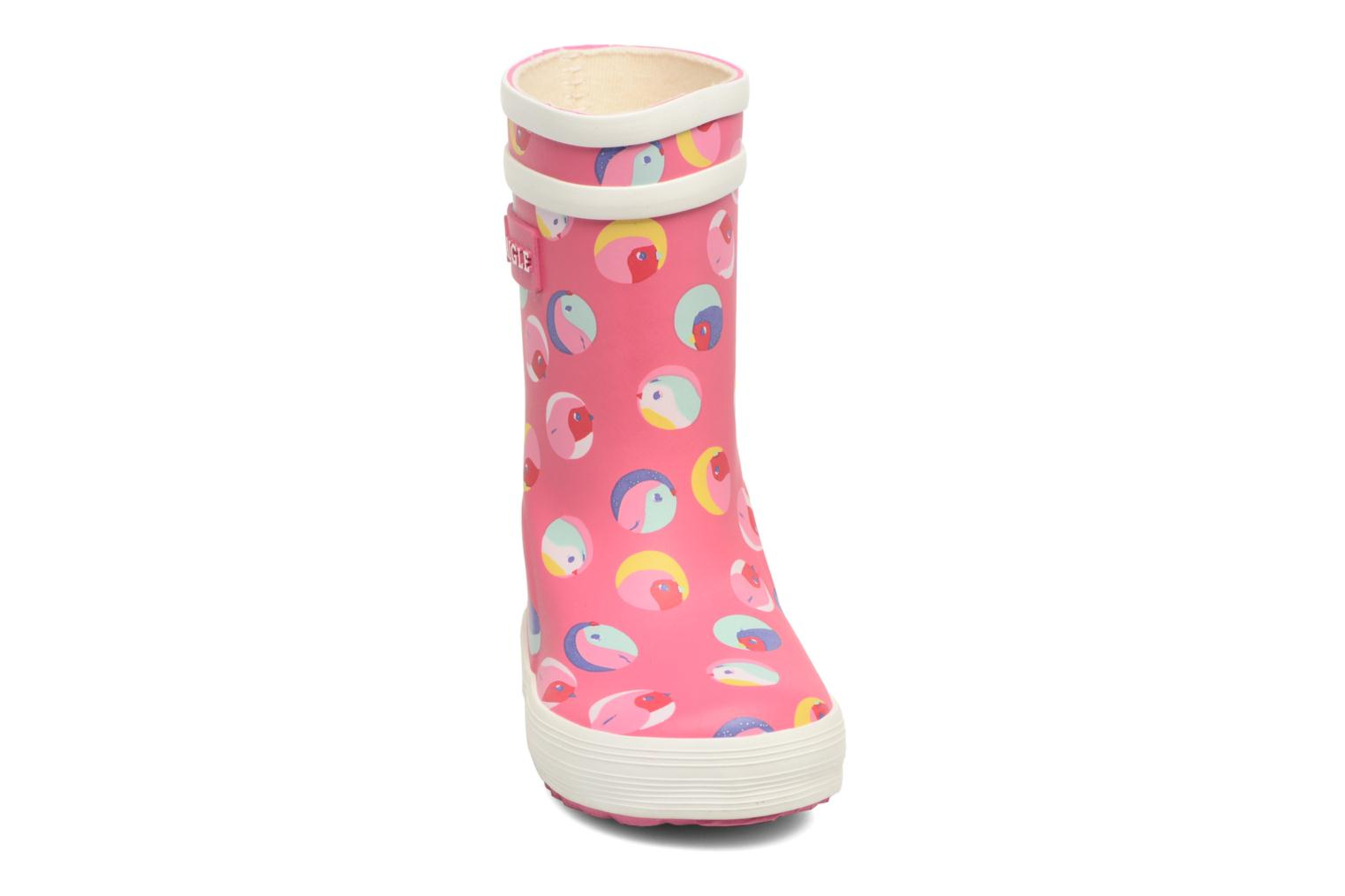 Bottes Aigle Baby Flac Gliterry Rose vue portées chaussures