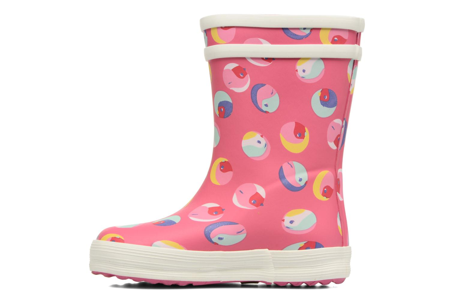 Bottes Aigle Baby Flac Gliterry Rose vue face