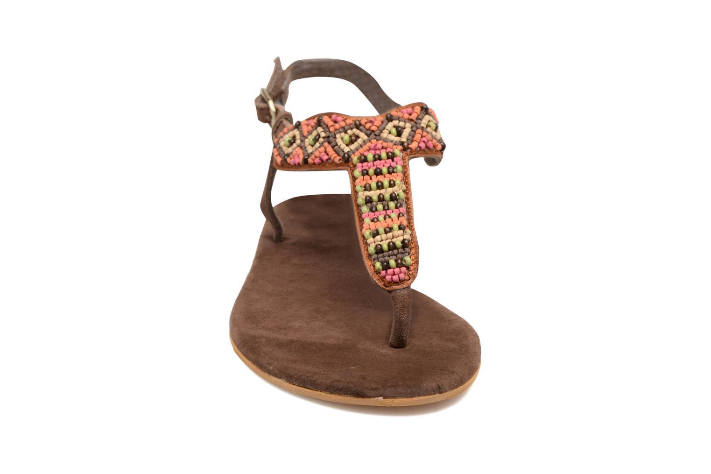 Sandales et nu-pieds Coolway Miami Marron vue portées chaussures