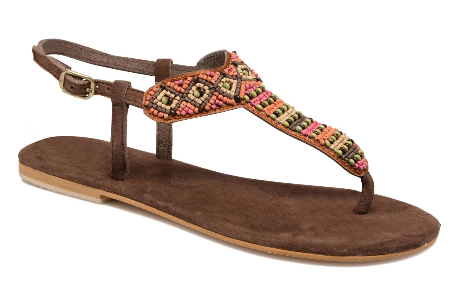 Sandals Coolway Miami Brown detailed view/ Pair view