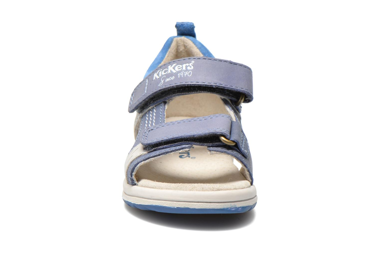 Sandales et nu-pieds Kickers Plazabi Bleu vue portées chaussures