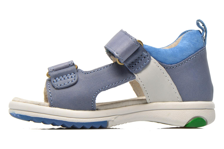 Sandalen Kickers Plazabi blau ansicht von vorne