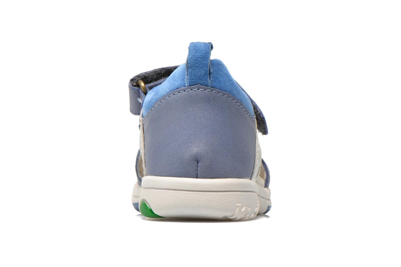 Sandalen Kickers Plazabi blau ansicht von rechts