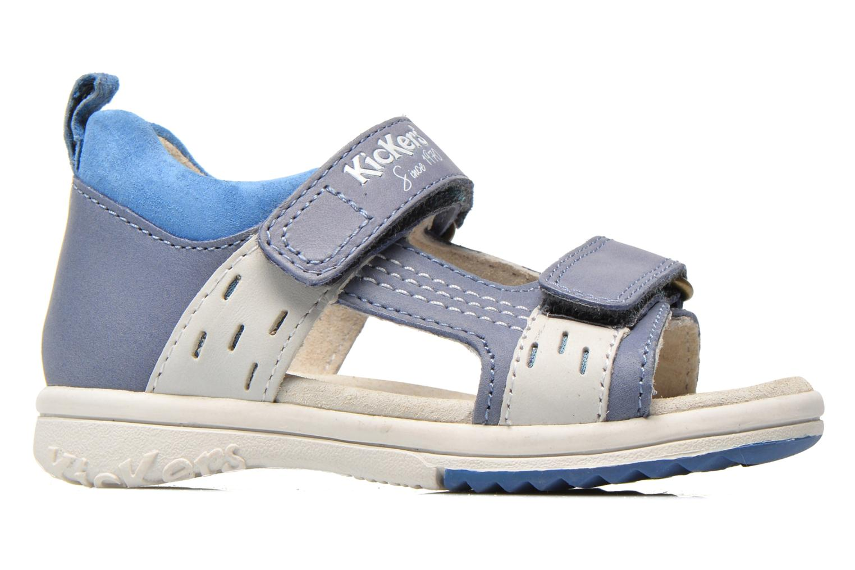 Sandales et nu-pieds Kickers Plazabi Bleu vue derrière