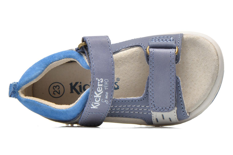 Sandalen Kickers Plazabi blau ansicht von links