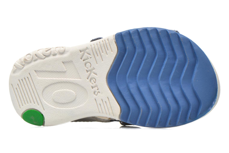 Sandales et nu-pieds Kickers Plazabi Bleu vue haut