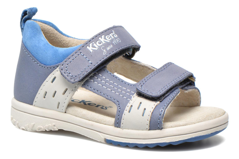Sandalen Kickers Plazabi blau detaillierte ansicht/modell