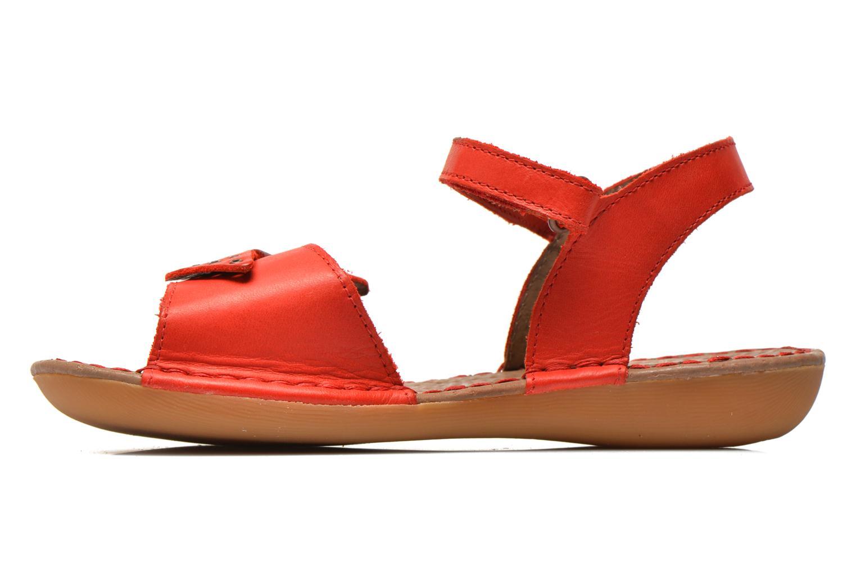 Sandales et nu-pieds Kickers Edana Rouge vue face