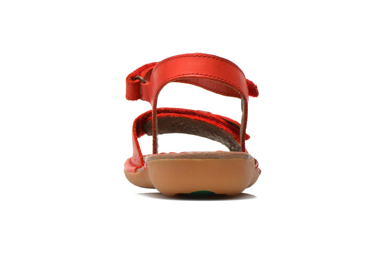 Sandales et nu-pieds Kickers Edana Rouge vue droite