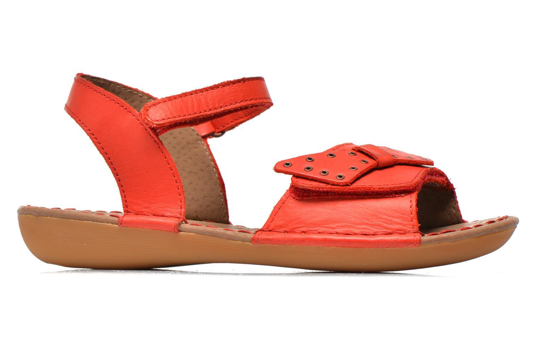Sandales et nu-pieds Kickers Edana Rouge vue derrière