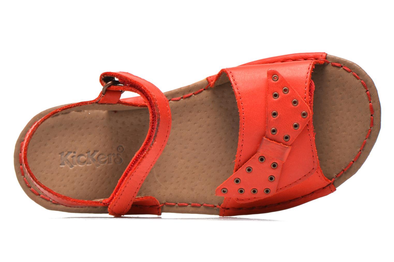 Sandales et nu-pieds Kickers Edana Rouge vue gauche