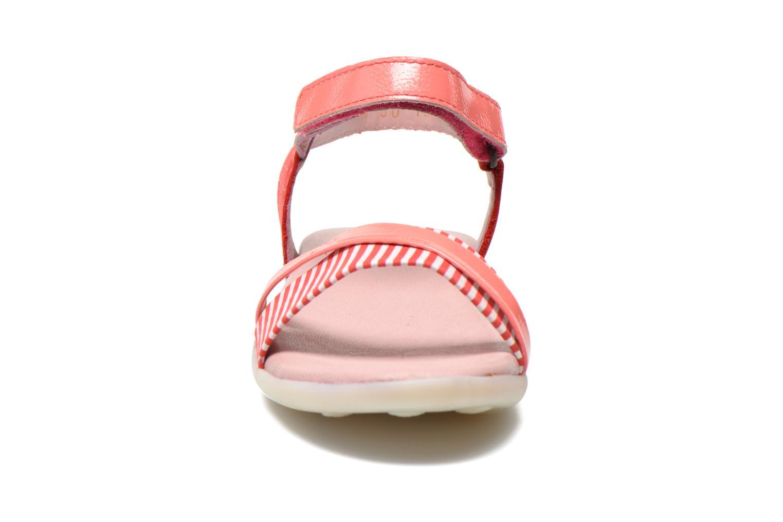 Sandalen Kickers Anyway rosa schuhe getragen