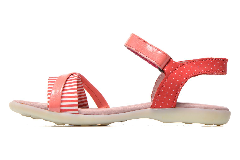 Sandalen Kickers Anyway rosa ansicht von vorne
