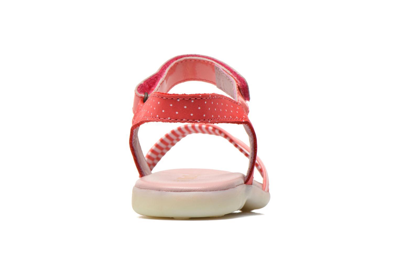 Sandalen Kickers Anyway rosa ansicht von rechts