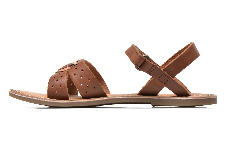 Sandales et nu-pieds Kickers Dix Beige vue face